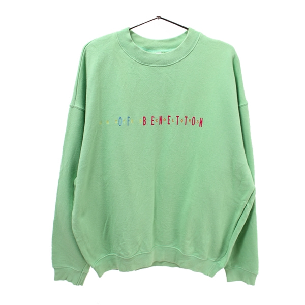 [UNITED COLORS OF BENETTON]   코튼 맨투맨 롱슬리브( MADE IN ITALY )[SIZE : WOMEN L]