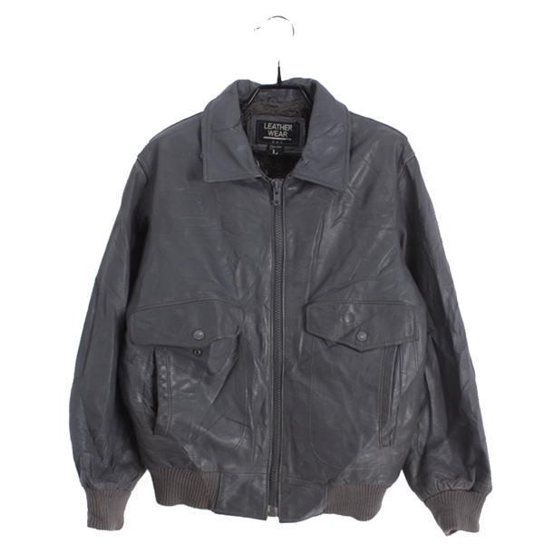 [LEATHER WEAR]   소가죽 리얼레더 재킷( MADE IN JAPAN )[SIZE : MEN L]